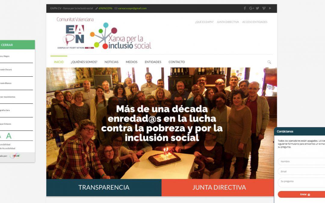 La EAPN CV renueva su espacio web eapncv.org con un diseño más accesible, interactivo y adaptable a cualquier soporte digital