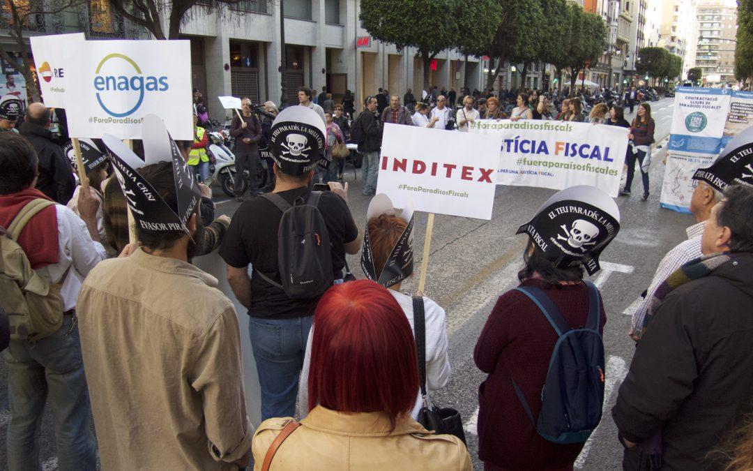 EAPN CV ix al carrer el Dia d'Acció Global contra els Paradisos Fiscals