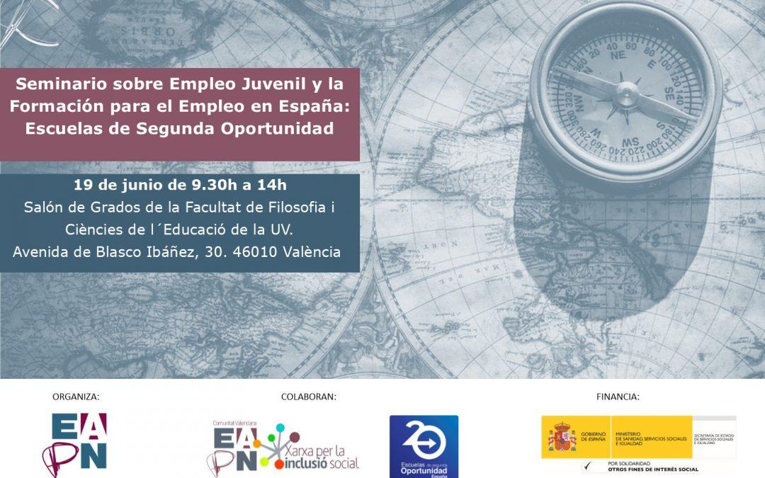 La EAPN ES abordará en Valencia la formación para el empleo juvenil desde el prisma de las E2O