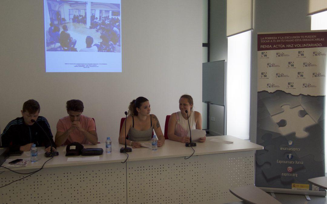 Jóvenes de entidades sociales exponen sus prioridades de ocio y cultura ante responsables de la Administración valenciana
