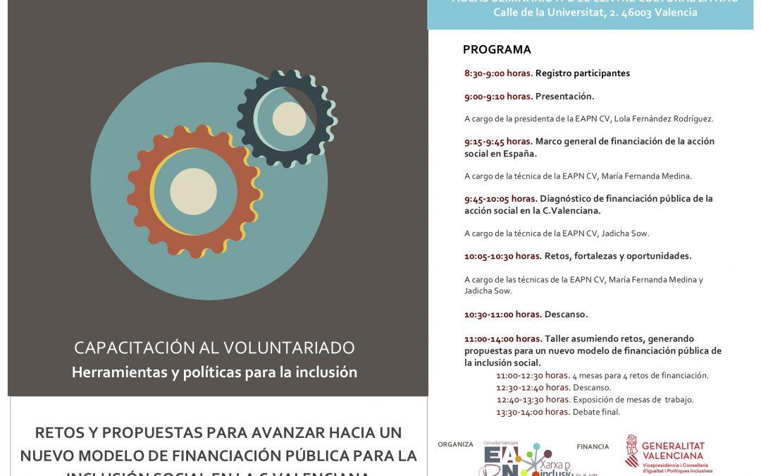 EAPN CV aborda los retos del modelo de financiación pública para la inclusión social