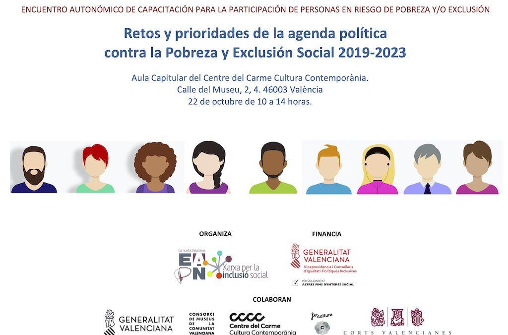 Participantes de programas sociales abordarán prioridades contra la pobreza en un encuentro con diputad@s de Les Corts
