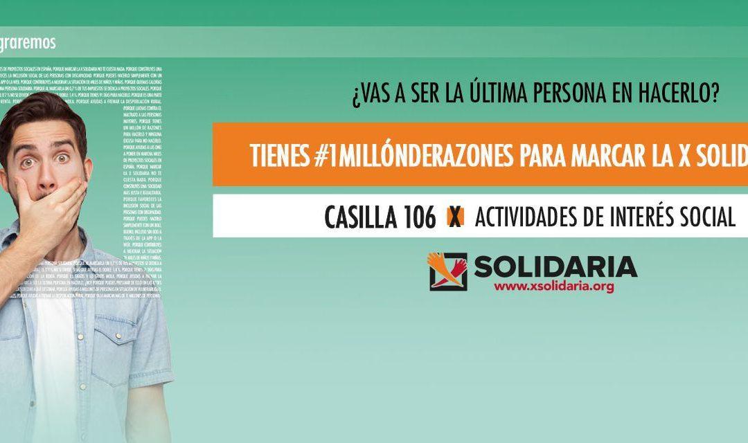Las entidades sociales de la C.Valenciana llaman a la ciudadanía a marcar la X Solidaria frente a la emergencia social por la COVID-19