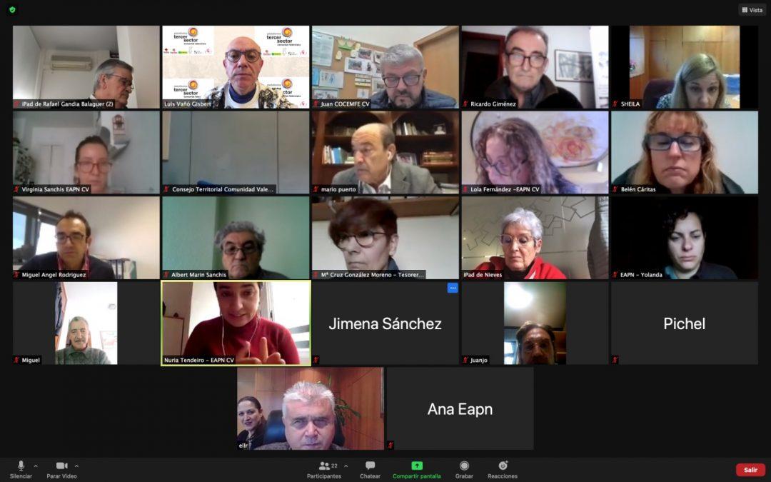 La Plataforma del Tercer Sector reclama a la Generalitat respuesta urgente al problema de sostenibilidad de las entidades de acción social