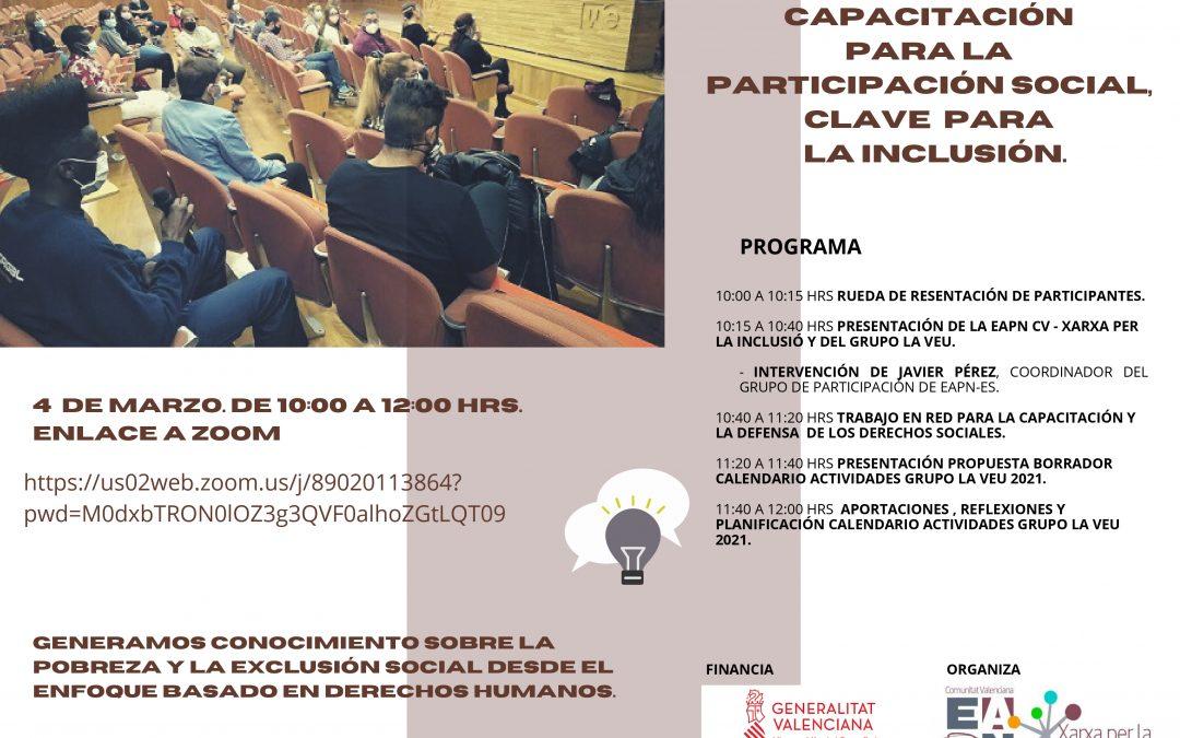 Participación social, clave para la inclusión